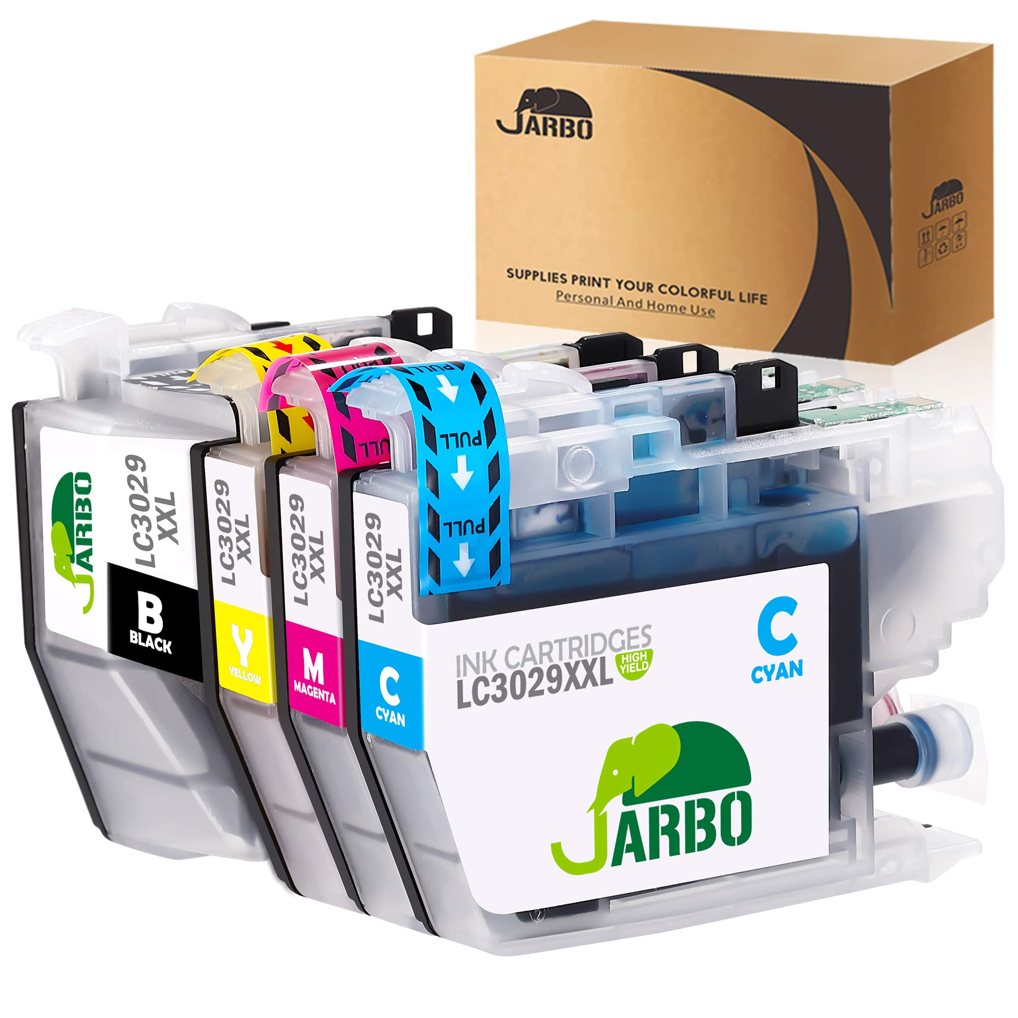 JARBO Compatible Ink Cartridge Replacement for Brother LC3029XXL 1B, 1C, 1M, 1Y 1 Set Compatible with Brother MFC-J5830DW MFC-J6535DW MFC-J5930DW MFC-J6935DW MFC-J5830DWXL MFC-J6535DWXL Printer