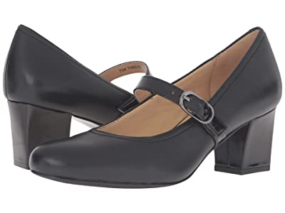 Trotters Candice (Black Glazed Leather/Patent) High Heels