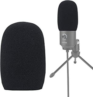 YOUSHARES Foam Mic Windscreen - Wind Cover Pop Filter Compatible with FIFINE USB Microphone (669B K669) for Recording and Streaming