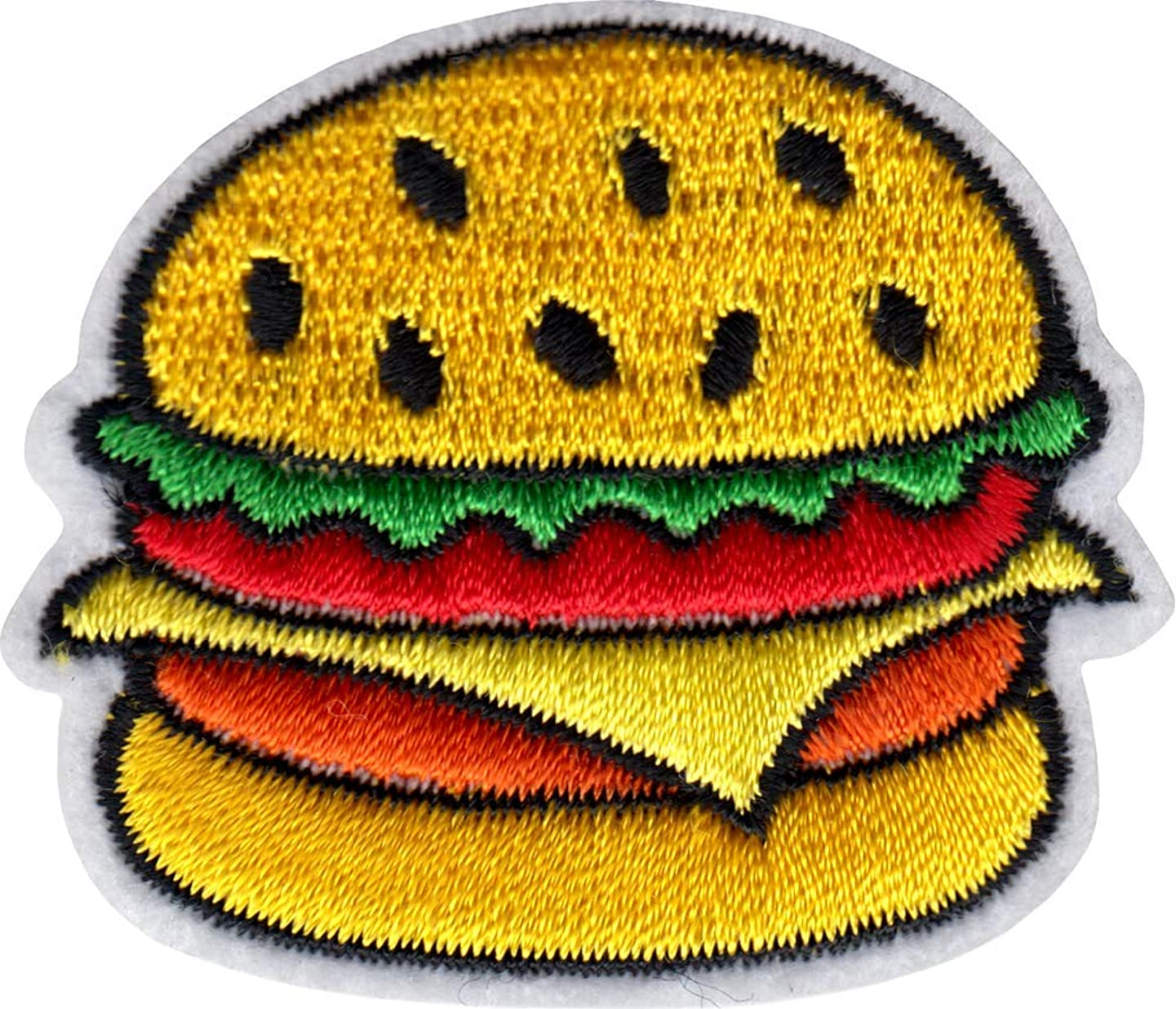 Juicy Cheeseburger - Cut Out Embroidered Iron On or Sew On Patch