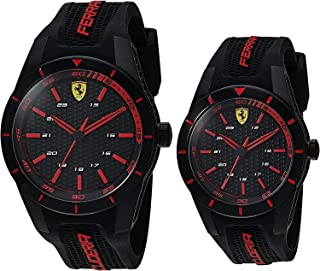 Scuderia Ferrari MEN'S BLACK DIAL BLACK SILICONE WATCH - 870017