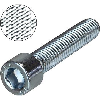 ISO 4762 Zylinderschrauben mit Innensechskant aus rostfreiem Edelstahl A2 V2A - Vollgewinde M4x22 - SC912 Zylinderkopfschrauben 100 St/ück - DIN 912