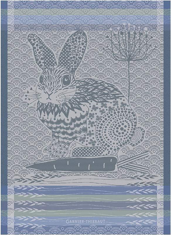 Garnier Thiebaut 31223 Lapin Design Blue Kitchen Towel 22 X 30