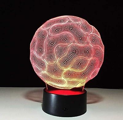 Luz de noche 3D Lámparas de mesa LED con pilas LED Lámparas de luz ...