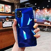 URFEDA Compatibel met Samsung Galaxy A31 telefoonhoesje Diamond Glitter Case met spiegeleffect Sparkly Bling TPU Siliconen...