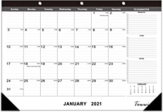 TOWWI 2021 – 2022 Monthly Desk Pad Calendar Desk/Wall Calendar for Daily Schedule Planner, 16.7x11.6 inches (Black)