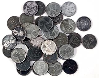 1943 Various Mint Marks Count of 50 Genuine World War II WWII Steel Pennies P, D & S Mint Marks Circulated