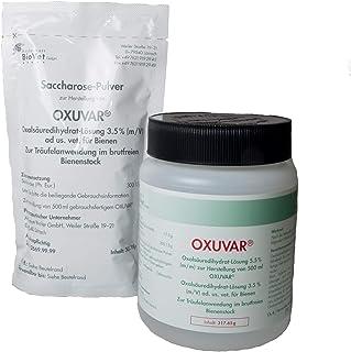 APIFORMES OXUVAR 3,5% ad us. Vet.- Set - 500 g - Träufelbehandlung gegen Varroa - Oxalsäure   Varroamilbe   Sommer und/oder als Winterbehandlung   3,0% Oxalsäure-Dihydrat zum Besprühen von Schwärmen