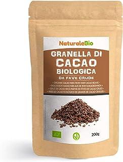 Grué de Cacao Cru Bio 200g. Organic Raw Cacao Nibs. 100% Naturel et Pur. Produit au Pérou par la Plante Theobroma Cacao. S...