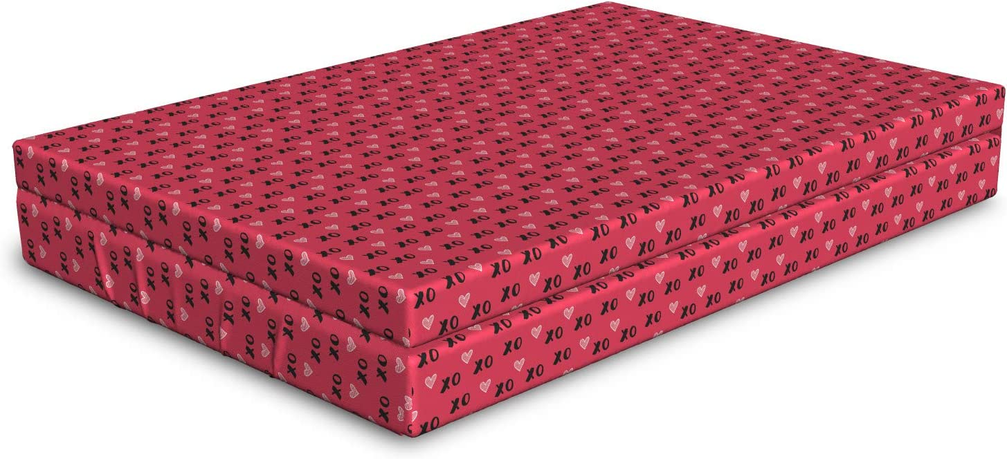Ambesonne XOXO specialty shop Dog Max 58% OFF Bed Love Design Striped Kisses Ab and Hearts