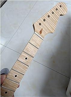 GUITAR NECK لهب القيقب القيقب الغيتار الكهربائي الرقبة 22 الحنق القيقب المنقطة النقاط البطانة اللمعان