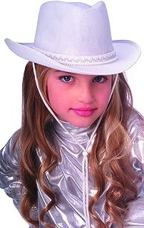 Rubie's Costume Child's Dura-Shape Deluxe White Cowboy Hat