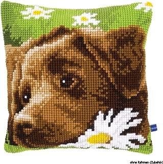 Vervaco Chocolate Labrador Cushion Cross Stitch Kit, 15.75