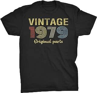 40th Birthday Gift T-Shirt - Retro Birthday - Vintage 1979 Original Parts