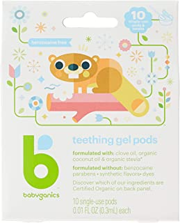 Babyganics Teething Gel Pods, 10ct
