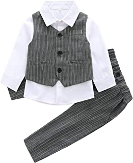 Fairy-Baby Children's Three-Piece Gentleman Outfit Spring and Autumn Suit for Toddler Boys