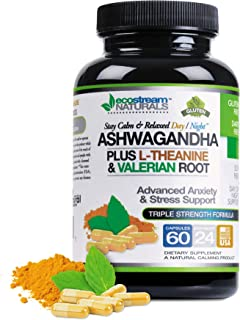 Large 2300 Milligram Strength - Pure Ashwagandha Root Extract Plus - Valerian Root - Passion Flower - Stress Reducer Suppo...