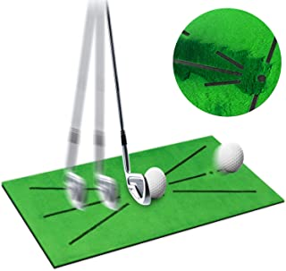 "Golf Training Mat, 24"" X 12"" Mini Golf Practice Training Aid Rug for Swing Detection Batting, Thicken Hitting Mat, Game an..."