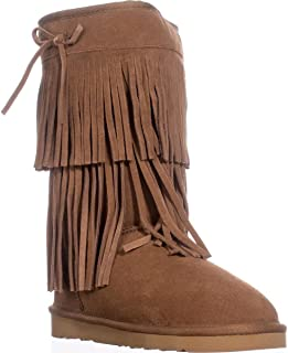 American Rag Womens Senecah Suede Round Toe Ankle Cold Boots Chestnut Size 7.0ÿ