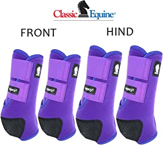 Classic Equine MEDIUM LEGACY2 HORSE FRONT HIND SPORTS BOOTS 4 PACK PURPLE