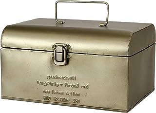 SPICE OF LIFE(スパイス) 収納 ボックス ブリキツールボックス ふた付き GESHMACK マットシルバー Sサイズ 24.5×18×.13.5cm 道具入れ 救急箱 裁縫箱 GFA621S