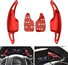 iJDMTOY Red CNC Billet Aluminum Steering Wheel Larger Paddle Shifter Extension Covers For Chevy 2014-2019 C7 Corvette, 2016-up Gen6 Camaro
