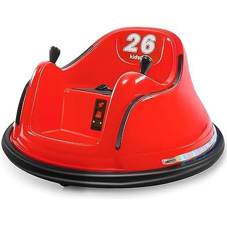 Kids ASTM-Certified Electric 6V Ride Bumper Car W// Remote Control 360 Spin~Blue
