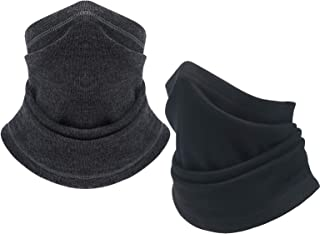 Winter Neck Gaiter Warmer Scarf - Windproof Mask Fleece Half Face Mask for Cold Weather