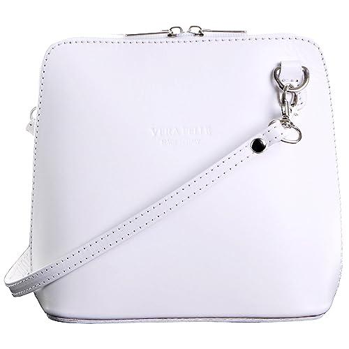 402560cca6 Primo Sacchi® Italian Leather Hand Made White Small Micro Cross Body Bag or  Shoulder