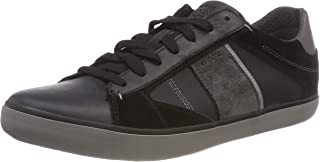 Geox Men's U Box D Low-Top Sneakers, (Black/Anthracite C9270), 11 UK, Black