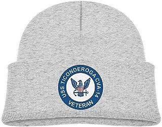 ADGoods Kids Children USS Ticonderoga CVA-14 Veteran Beanie Hat Knitted Beanie Knit Beanie For Boys Girls Gorra de béisbol...