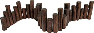 Master Garden Products Teak Wood Uneven Top Solid Log Edging, 60