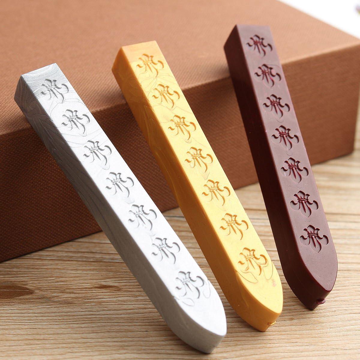 puqu Vintage Buchstabe Buchstaben A-Z Alphabet Wachs Badge Siegel Stempel Kit Wachs Set Tool Geschenk C Dichtung Wachs Kit