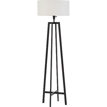 Kira Home Akira 80 Modern 3 Light Arc Floor Lamp With 3 Way Switch Beige Burlap Drum Shades Antique Bronze Finish