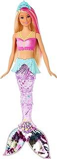 Barbie Dreamtopia poupée sirène lumière et danse aquatique à plonger dans l'eau, avec mouvements de nageoire, jouet pour e...