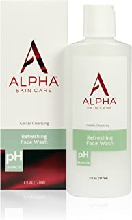 Alpha Skin Care - Refreshing Face Wash, Gentle Cleanser, Restores Ideal PH, for All Skin Types| 6-Ounce (Packaging May Vary)