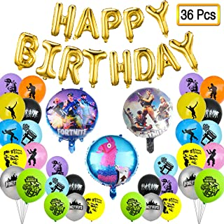 zhangxiaohua Video Game Party Supplies Decorations - 36 Pcs Including Ballons,Banner Packs Set Birthday Party Favor for Boys Kids