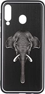 Boter 3D Back Cover With Silicone Edges and Elephant Print for Samsung Galaxy M30 - Multi Color