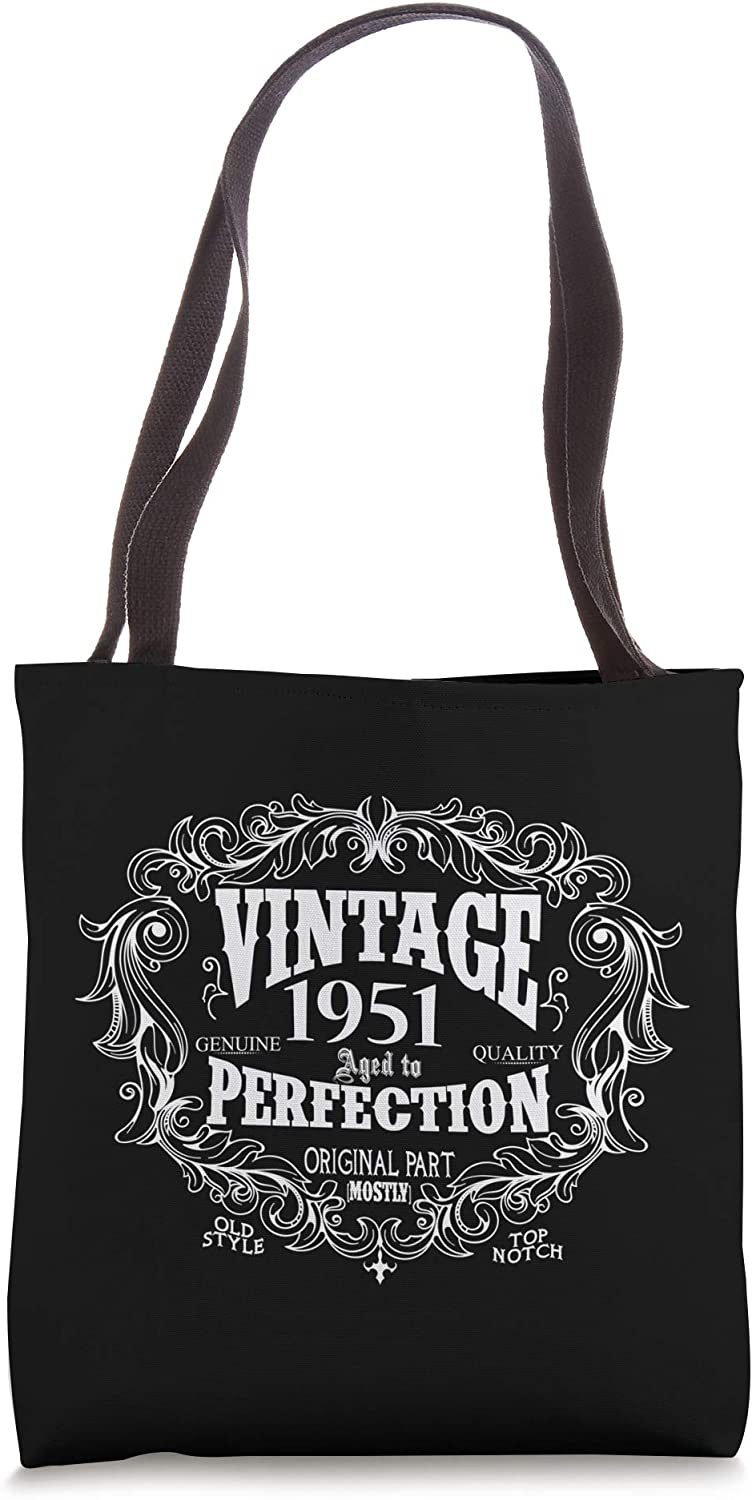 Born in 1951 Birthday gifts 70 Years old 70th Bday gift Tote Bag
