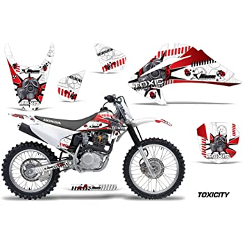 Toxicity Red AMR Racing MX Dirt Bike Graphics kit Sticker Decal Compatible with Honda CRF80 CRF100 2004-2010