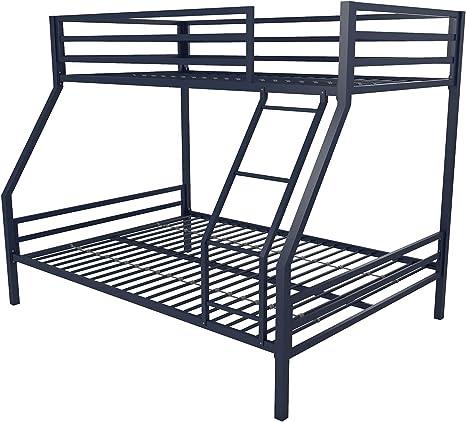 Amazon Com Novogratz 4146629n Maxwell Metal Bunk Bed Twin Over Full Furniture Decor