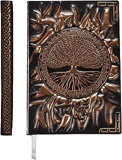 colore: marrone taccuino da viaggio Imperial Handicrafts idea regalo taccuino in vera pelle goffrata 22,9 x 17,8 cm Quaderno per schizzi diario vuoto per scrivere e fare schizzi