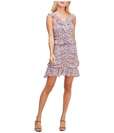 ASTR the Label Zinnia Dress (Pink/Purple Floral Print) Women