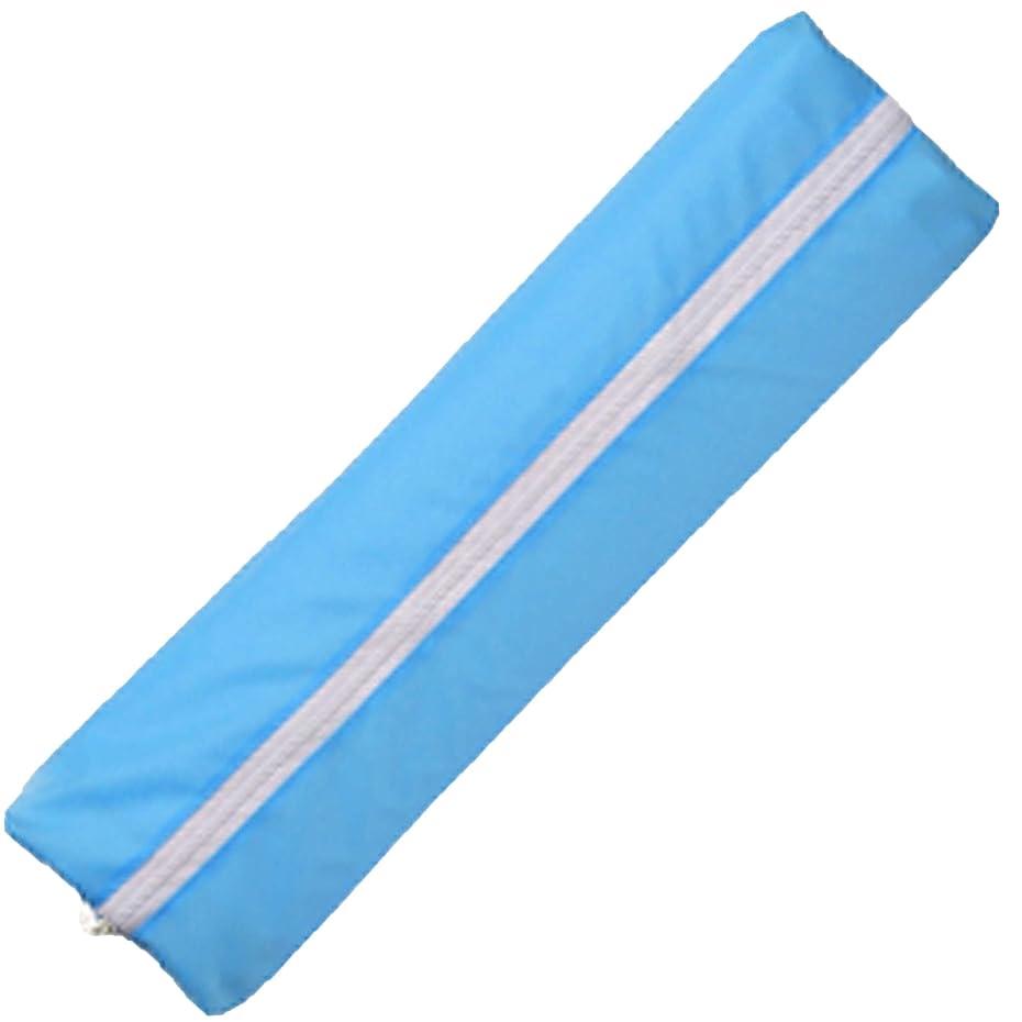 嵐の送るみ隙間を利用できる 旅行 衣類収納袋 カラフルジップケース ロングサイズ ブルー