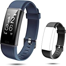 Lintelek Fitness Tracker, Customized Activity Tracker Heart Rate Monitor with Replacement Band, IP67 Waterproof, Sleep Mon...