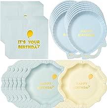 Talking Tables We Heart Birthdays Happy Birthday Boy Party Bundle | Balloon Shaped Paper Plates, Napkins & Happy Birthday Plates