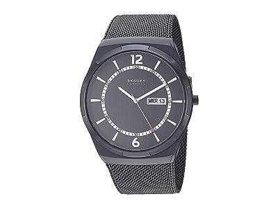 Skagen Melbye Three-Hand Watch (SKW6576 Black Stainless Steel Mesh) Analog Watches