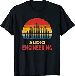 Vintage Sunset T Shirt Funny Audio Engineering T-Shirt