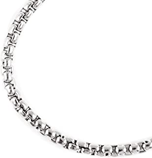 JFSG 316L Stainless Steel Square Rolo Chain Necklace For Men Or Women 3.5mm 16 to 36 Inches