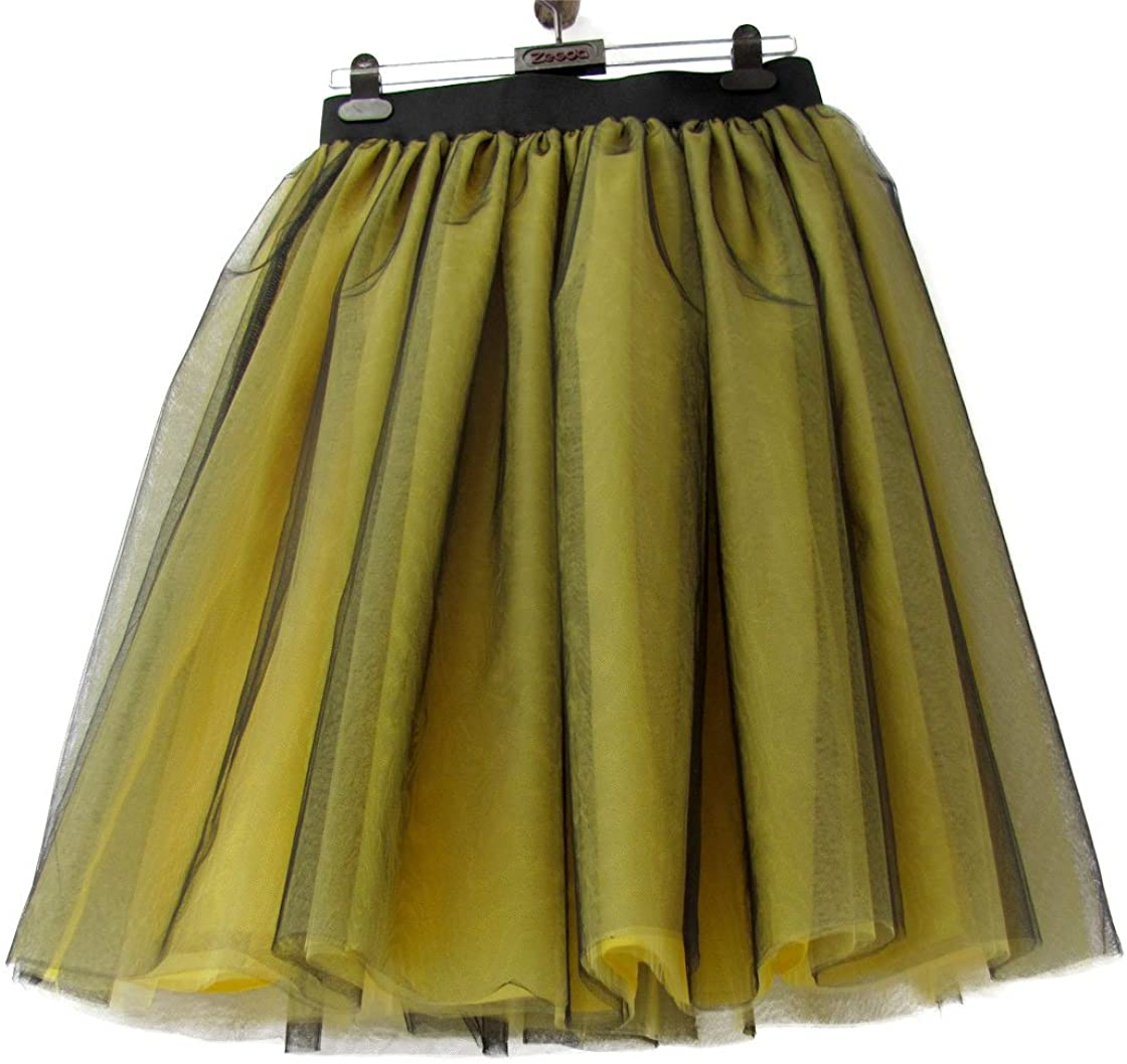 URVIP Women's Tutu Skirt 6-Layers Petticoat Tulle Skirt for Carnival, Party and Wedding